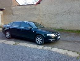 Audi A6 s instalovanymi bezpecnostnimi 300µm a protislunecnimi autofoliemi Llumar AT15