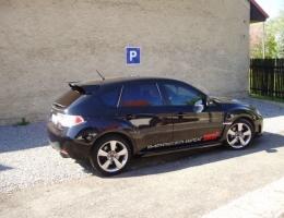 Subaru Impreza WRC instalace protislunecni autofolie Llumar ATR15,35